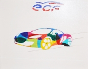 """tableau autres voiture multicolore desir : Une voiture  nommée  """"DÉSIR """""""