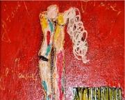 tableau abstrait abstrait toile amour : Je t'aime