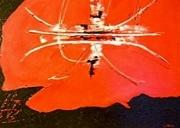 tableau abstrait tableau abstrait rouge : Signature