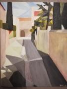 tableau cubisme provence : Moulin