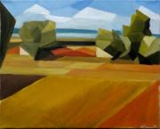 tableau paysages cubisme provence : Colline