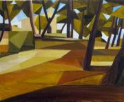 tableau paysages cubisme provence : Chapelle en Provence