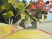 tableau paysages cubisme provence : Chemin