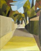 tableau cubisme provence : Rue de village
