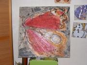 tableau autres acrylique collage : butterflye