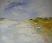 tableau marine huile plage marine calme impressionniste : Marine2019