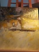 tableau personnages jaune personne toile : la jeune fille