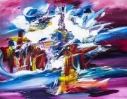 art numerique abstrait violet blanc coloree bleu : Les couleurs à l'honneur