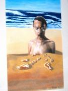 mixte scene de genre : de sable et d'eau n°4