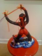 sculpture personnages gym eau mouvement fille : OCEANE
