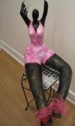 sculpture sport danseuse sportive assise victoire : NANA AU MIROIR