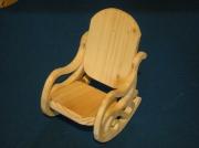 artisanat dart autres bois poupee jouet miniature : rocking chair bois massif naturel pour poupée 30cm