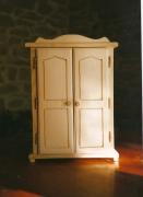 artisanat dart autres bois jouet poupee miniature : armoire pour poupée 30cm