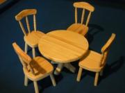 artisanat dart autres bois jouet poupee miniature : table et chaises en bois pour poupée