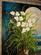 tableau fleurs fleurs orchidees bouquet composition florale : Orchidées pour toujours