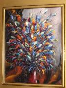 tableau fleurs bouquet fleurs composition florale : Explosion florale