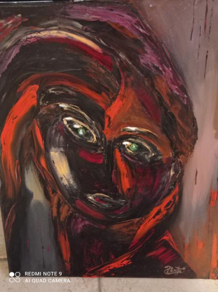 TABLEAU PEINTURE Princesse créature fantastique fiction Abstrait Peinture a l'huile  - Créature