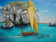 tableau marine pecheurs iles mer nouvellecaledonie : Voyage à Lifou