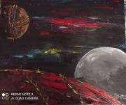 tableau scene de genre fiction imaginaire planetes univers : Un autre monde