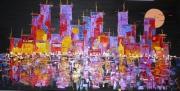 tableau villes nuit ville : New-york Black