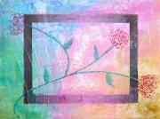 tableau abstrait fleur texture moderne colore : Retour des beaux jours