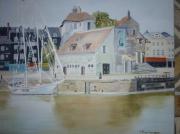 tableau marine port eau : Capitainerie du Port de Honfleur