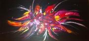 tableau abstrait rose bouquet abstrait : Abstrait de Rose