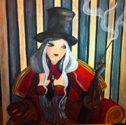tableau personnages manga chinoise cabaret : Smokin'Lady
