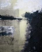 tableau abstrait abstrait matiere sable noir : Matière