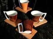 """artisanat dart fleurs porcelaine art de la table lourdes cadeaux : Service 4 tasses""""Alambra"""""""