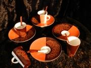 """artisanat dart fleurs porcelaine lourdes art de la table cadeaux : Tasses collection""""Alambra"""""""