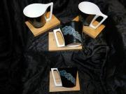 artisanat dart fleurs porcelaine lourdes art de la table cadeaux : Tasses et support Bambou