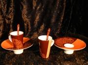 """artisanat dart fleurs porcelaine art de la table lourdes cadeaus : Duo de tasse""""Almbra"""""""