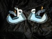 artisanat dart fleurs porcelaine lourdes art de la table cadeaux : Duo de tasses