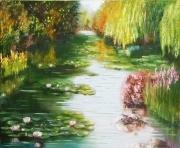 tableau paysages eau etang paysage anna maillard : ETANG