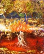 tableau paysages souche feu paysage anna maillard : SOUCHE