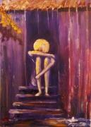 tableau scene de genre tristesse sentiment pleurs anna maillard : TRISTESSE