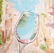 tableau paysages provence rose paysage anna maillard : Rosé de Provence