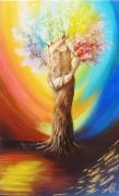 tableau scene de genre arbre couple vie anna maillard : ARBRE DE VIE