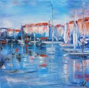 tableau paysages sttropez port marine anna maillard : SAINT-TROPEZ