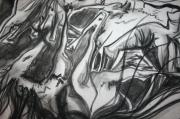 dessin scene de genre chevaux mort femme amour : femmes bataillant