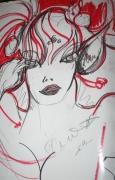 tableau personnages fille numerique fiction portrait : portrait