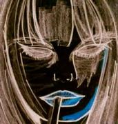 art numerique personnages fille portrait noire numerique : Laura