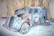 tableau autres voitures automobile collection epave : L'épave Juva 4