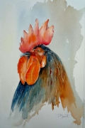 tableau animaux coq poule bassecour animaux : Cocorico