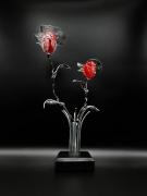 sculpture fleurs bouquet lumineux rosier bouquet de roses roses eternelles : Bouquet lumineux de roses rouges