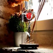 sculpture fleurs rose eternelle fleur lumineuse rose enchantee fleur eternelle : Rose enchantée