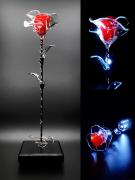 deco design fleurs rose lumineuse rose eternelle lumineuse fleur eternelle luminaire : Rose éternelle lumineuse