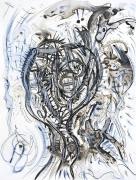 tableau abstrait portrait surealiste : Sans titre