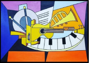 painting : Les instruments musicales